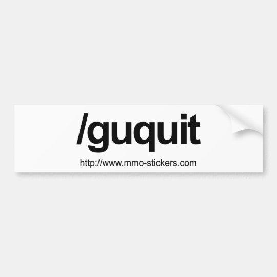 Guild quit bumper sticker