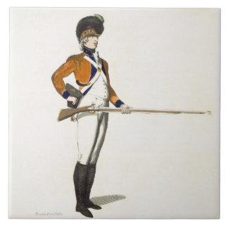 Guildhall Light Infantry Volunteer, plate 33 from Tile