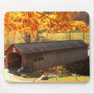 Guilford Vermont Covered Bridge Autumn Mouse Mat
