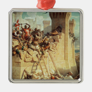 Guillaume de Clermont defending Ptolemais Christmas Ornament