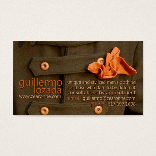 Guillermo Lozada | Zearonne.com Business Card