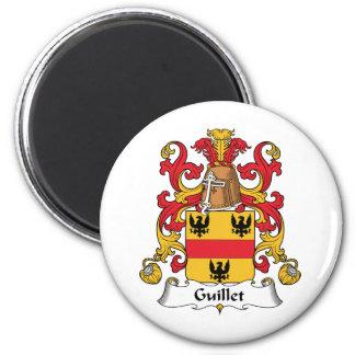 Guillet Family Crest 6 Cm Round Magnet