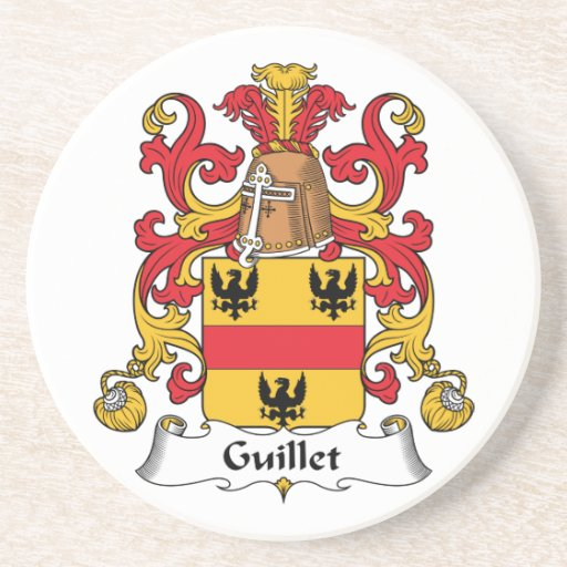 Guillet Family Crest Drink Coasters