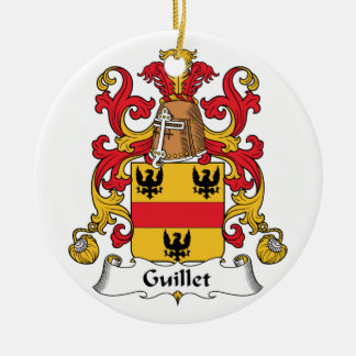Guillet Family Crest Double-Sided Ceramic Round Christmas Ornament