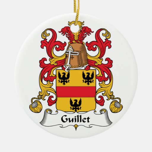 Guillet Family Crest Ornament