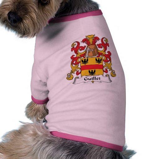 Guillet Family Crest Doggie Tee Shirt