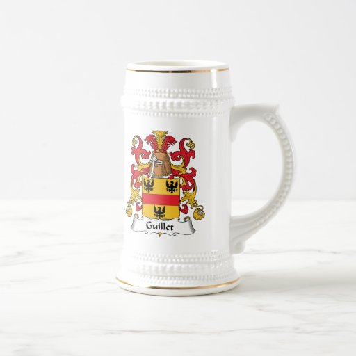 Guillet Family Crest Coffee Mugs