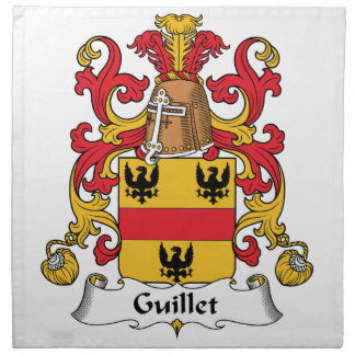 Guillet Family Crest Printed Napkin