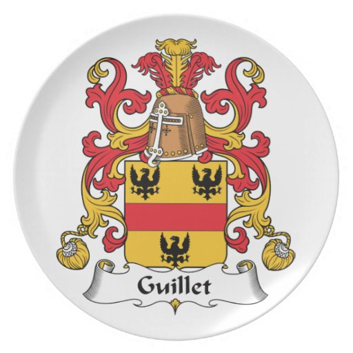 Guillet Family Crest Party Plate