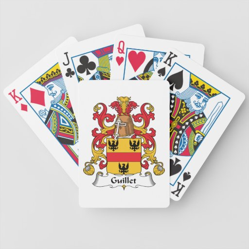 Guillet Family Crest Bicycle Poker Deck