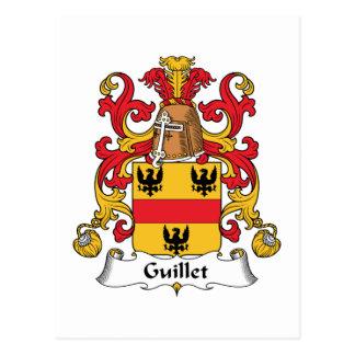 Guillet Family Crest Postcard