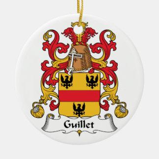 Guillet Family Crest Round Ceramic Decoration