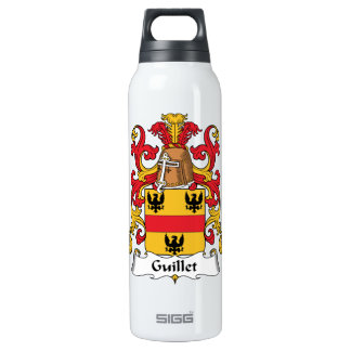 Guillet Family Crest 16 Oz Insulated SIGG Thermos Water Bottle