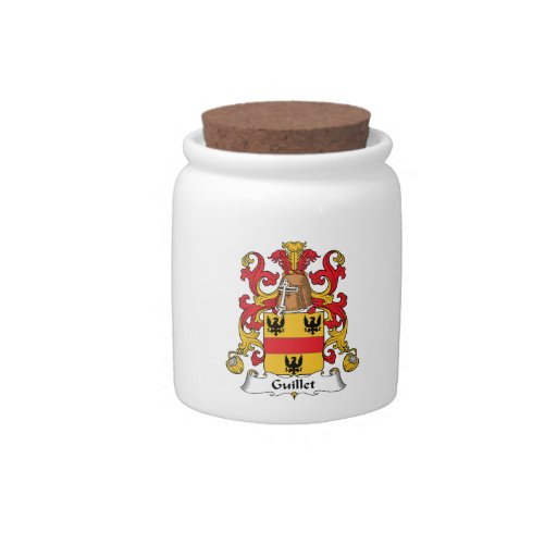 Guillet Family Crest Candy Jars