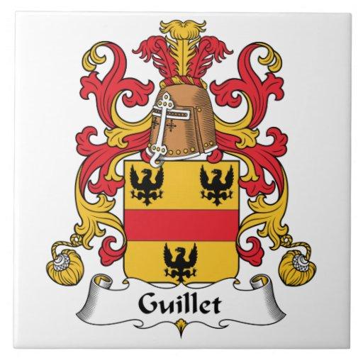 Guillet Family Crest Tile