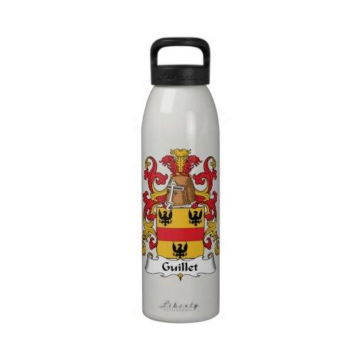 Guillet Family Crest Water Bottles