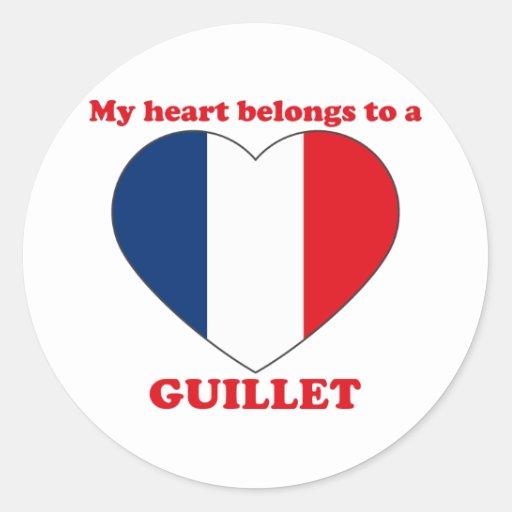 Guillet Round Stickers