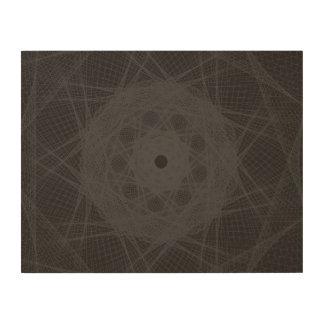 Guilloche Net black Wood Print