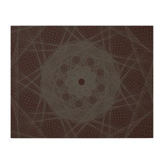 Guilloche Net maroon Wood Canvas