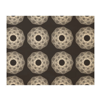 Guilloche Net pattern 2 black Wood Canvases
