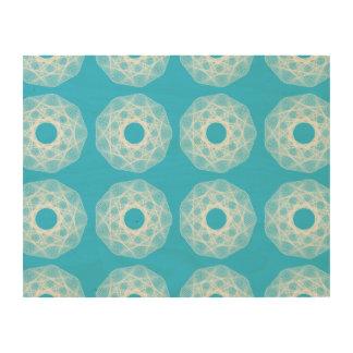 Guilloche Net pattern light blue Wood Print