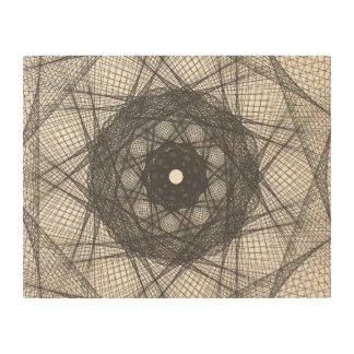 Guilloche Net white Wood Print