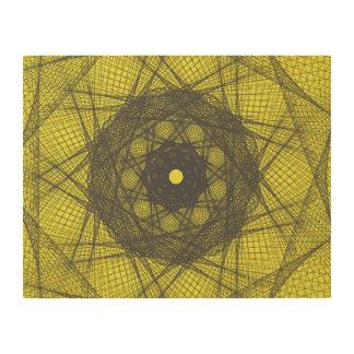 Guilloche Net yellow Wood Prints