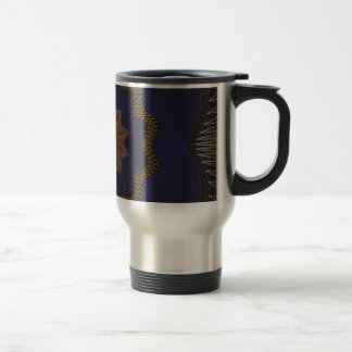 Guilloche Netted Pattern blck Coffee Mug
