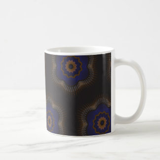 Guilloche Netted Patterns blck Coffee Mugs