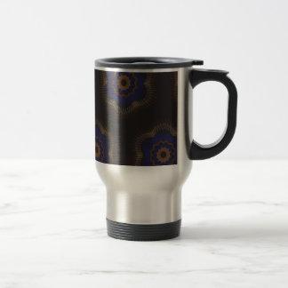 Guilloche Netted Patterns blck Coffee Mug