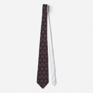 Guilloche Netted Patterns blck Tie