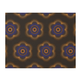 Guilloche Netted Patterns blck Wood Print