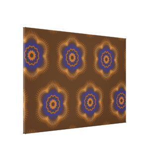 Guilloche Netted Patterns brown Stretched Canvas Print