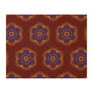 Guilloche Netted Patterns dark red Wood Prints