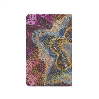 Guilloche Pattern Lines blck Journals