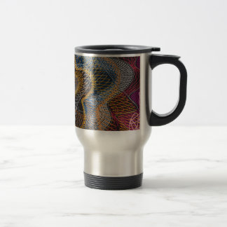Guilloche Pattern Lines blck Coffee Mugs
