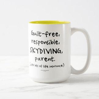 Guilt-free SKYDIVING Parent Two-Tone Mug