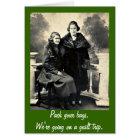 Guilt Trip - Funny Vintage Women Greeting Card