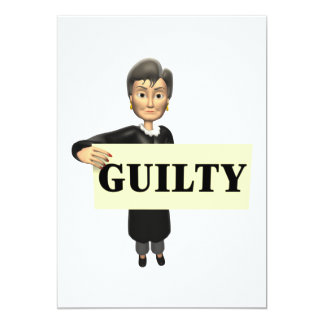 Guilty 13 Cm X 18 Cm Invitation Card