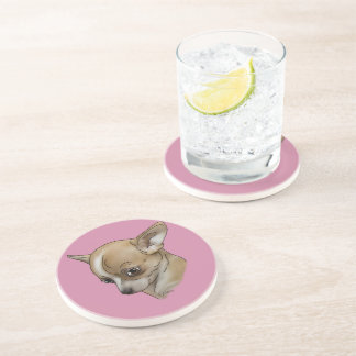 Guilty Chihuahua Puppy Portrait Print Coasters