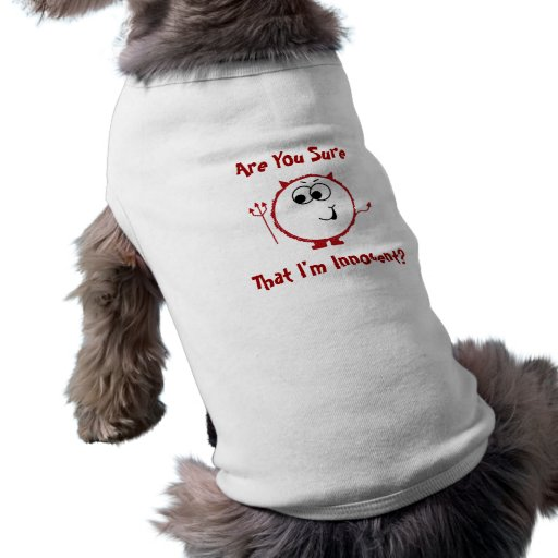 Guilty Devil Weeble Dog Outfit Doggie Tshirt