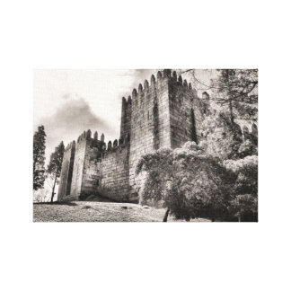 Guimaraes Castle in Portugal Canvas Prints
