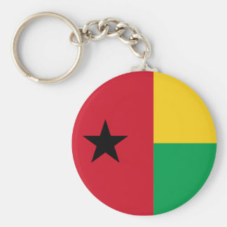 guinea bissau basic round button key ring