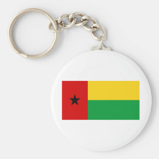 Guinea-Bissau Basic Round Button Key Ring