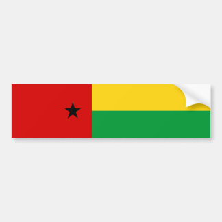 Guinea-Bissau country flag nation symbol long guin Bumper Sticker
