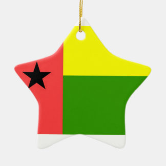 Guinea-Bissau Flag Double-Sided Star Ceramic Christmas Ornament