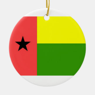 Guinea-Bissau Flag Double-Sided Ceramic Round Christmas Ornament