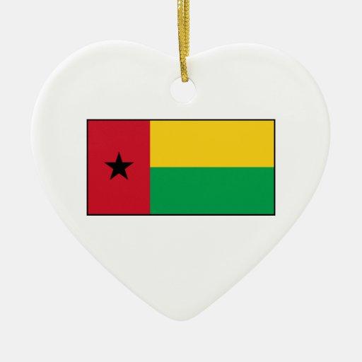 Guinea-Bissau Flag Christmas Tree Ornament