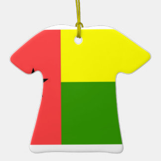 Guinea-Bissau Flag Double-Sided T-Shirt Ceramic Christmas Ornament