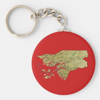 Guinea-Bissau Map Keychain